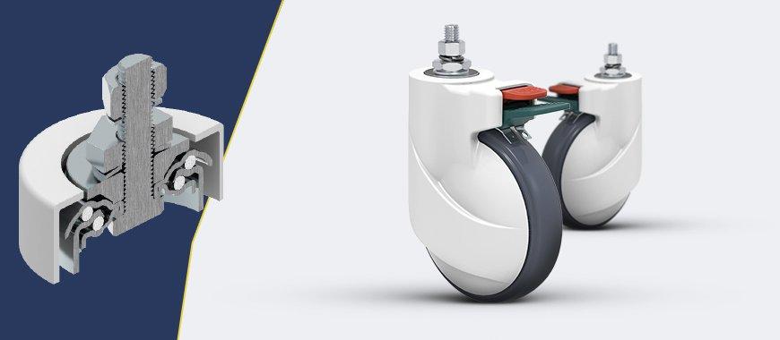 design moderno e eficaz para aplicação de rodas e rodízios