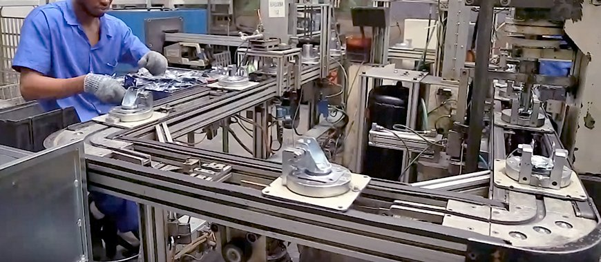 conheça a linha de produção da schioppa rodas e rodízios, marca líder do segmento no brasil