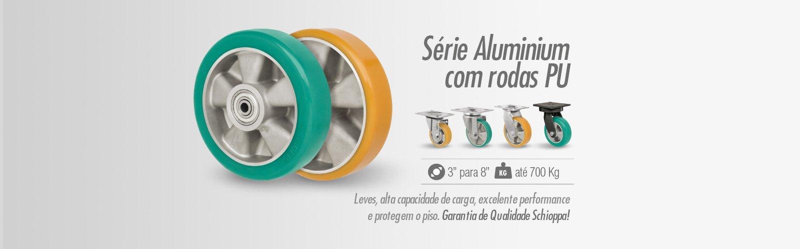 Série Aluminium com rodas PU